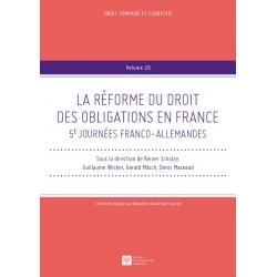 LA RÉFORME DU DROIT DES OBLIGATIONS EN FRANCE