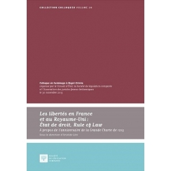 E Livre Les libertés en France et au Royaume-Uni : Etat de droit, Rule of Law