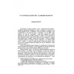 Un contrat exctinctif : la remise de dette - PICOD