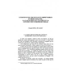 L'existence de circonstances imoprévisibles en droit espagnol:... - MOLL DE ALBA