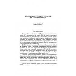 Les dommages en droit espagnol de la concurrence - ROBLES