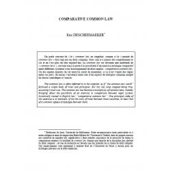 Comparative Common Law - DESCHEEMAEKER