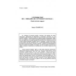 """L'interdiction des """"thérapie de conversion sexuelle"""", études de droit comparé - CHARRUAU"""
