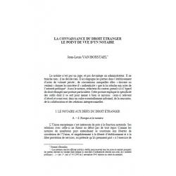 La connaissance du droit étranger, le point de vue d'un notaire - VAN BOXSTEAL