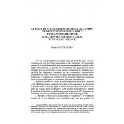 Le point de vue du Bureau du droit de l'Union, du droit international privé et de (...) - VAUTRAVERS