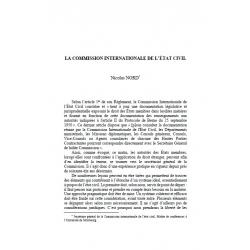 La commission internationale de l'Etat civil - NORD