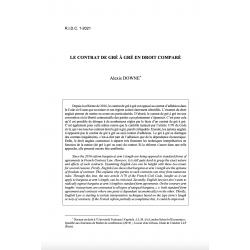 Le contrat de gré à gré en droit comparé - DOWNE