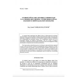 Le droit pénal des affaires camerounais à la croisée des chemins... - TAMKAM SILATCHOM