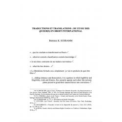 Traductions et translations : du et/ou des queers(s) en droit international - K. SCHRAMM