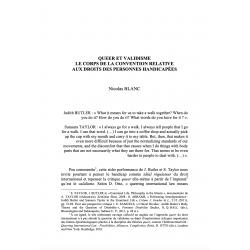 Queer et validisme, le corps de la Convention relative aux droits des personnes handicapées - BLANC