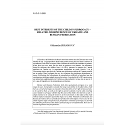 Best interests of the child in surrogacy - related jurisprudence of Ukraine and Russian Federation - SHRAMOVA