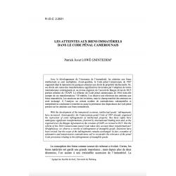 Les atteintes aux biens immatériels dans le code pénal camerounais - LOWE GNINTEDEM