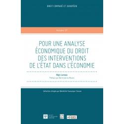 Livre : Pour une analyse économique du droit des interventions de l'État dans l'économie