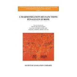 Livre- L'harmonisation des sanctions pénales en Europe