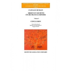 Livre - Clonage humain -  Étude franco-chinoise (Volume 3)