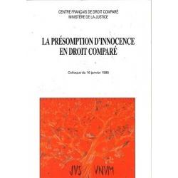 Livre - La présomption d'innocence en droit comparé