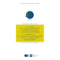 Livre - Le cadre de la gouvernance d'entreprise dans l'Union européenne