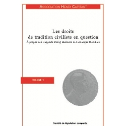 Livre - Les droits de traditions civiliste en question (Volume 1)