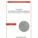 Livre - Les droits de tradition civiliste en question (Volume 1)