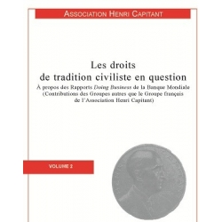 Livre - Les droits de tradition civiliste en question (Volume 2)