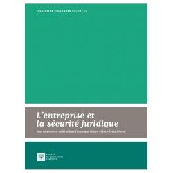Livre - L'entreprise et la sécurité juridique