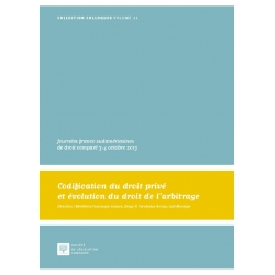 E-Livre - Codification du droit privé et évolution du droit de l'arbitrage