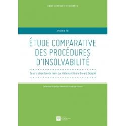 Livre - Études comparatives des procédures d'insolvabilité
