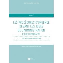 Livre - Les procédures d'urgence devant les juges de l'administration - Étude comparative