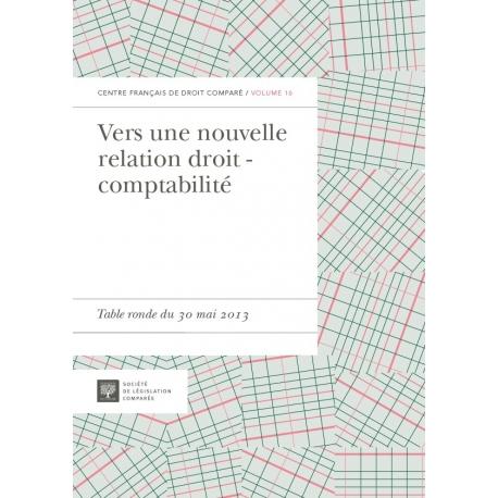Livre - Vers une nouvelle relation droit - comptabilité