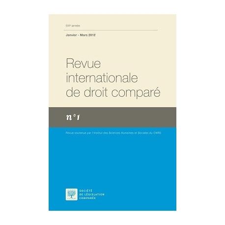 Revue internationale de droit comparé 2021 (Abonnement annuel, envoi monde)