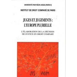 Livre - Juges et jugements : L'Europe plurielle
