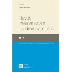Revue internationale de droit comparé 2020 (Abonnement annuel, envoi France)