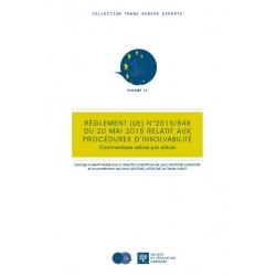 Livre - Règlement (UE) N°2015/848 du 20 mai 2015 relatif aux procédures d'insolvabilité