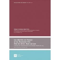 Livre - Les libertés en France et au Royaume-Uni : Etat de droit, Rule of Law