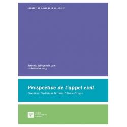 Livre - Prospective de l'appel civil