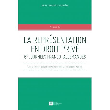 Livre - La représentation en droit privé