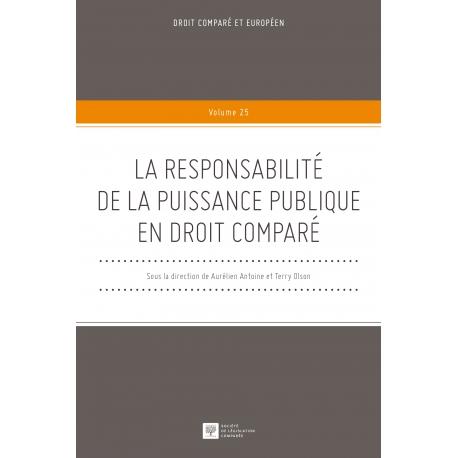 E-Livre - La responsabilité de la puissance publique en droit comparé