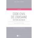 Livre - Code civil de Louisiane - Edition bilingue