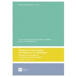 Livre - Mémoire et droit pénal en France et en Allemagne
