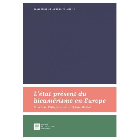 Livre - L'état présent du bicamérisme en Europe