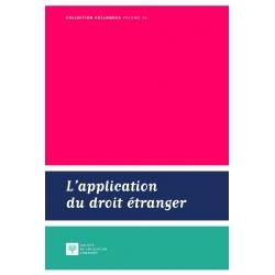E-Livre - L'application du droit étranger