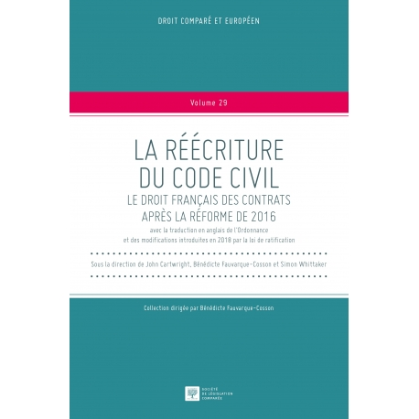Livre - La réécriture du Code civil