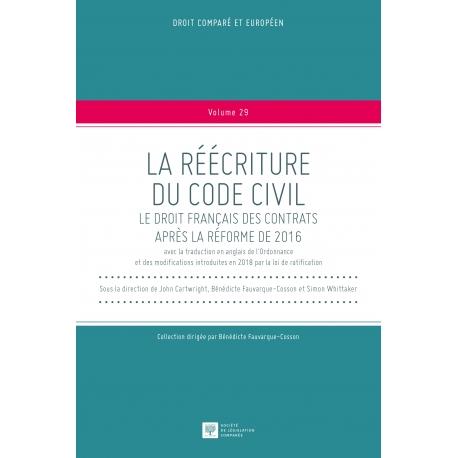E-Livre - La réécriture du Code civil