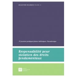 Livre Responsabilité pour violation des droits fondamentaux