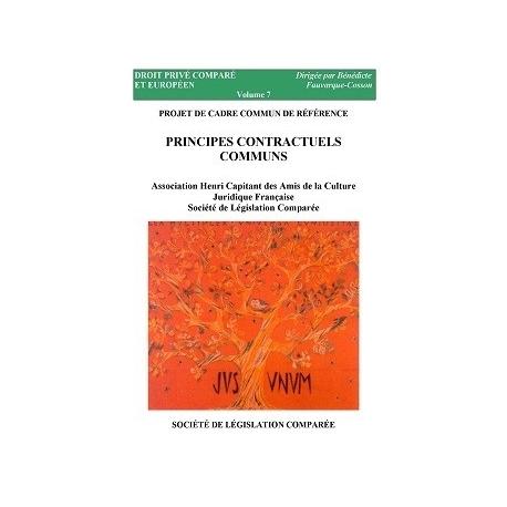 PROJET DE CADRE COMMUN DE RÉFÉRENCE - PRINCIPES CONTRACTUELS COMMUNS