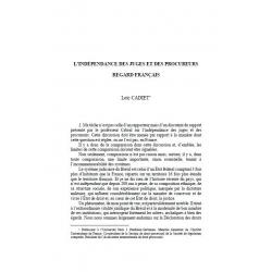 CADIET - L'indépendance des juges et des procureurs, regard français