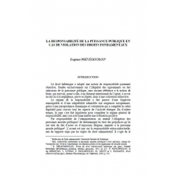 PRÉVÉDOUROU - La responsabilité de la puissance publique en cas de violation des droits fondamentaux
