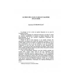 SOTIROPOULOU - Le principe ne bis in idem en matière financière