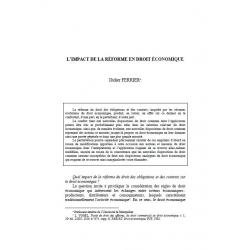 FERRIER - L'impact de la réforme en droit économique