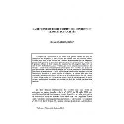SAINTOURENS - La réforme du droit commun des contrats et le droit des sociétés
